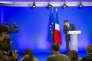 Conférence de presse de François Fillon, candidat Les Républicains de la droite à la présidentielle 2017, à propos de l'affaire «Pénélope Filllon» dans son QG de campagne à Paris, lundi 6 février 2017
