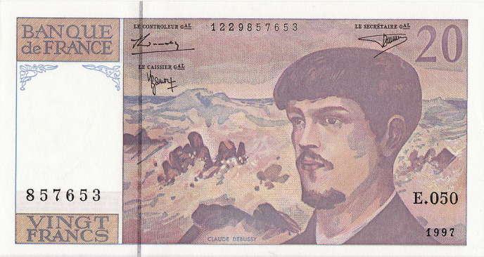 Un billet de 20 euros, 1997.