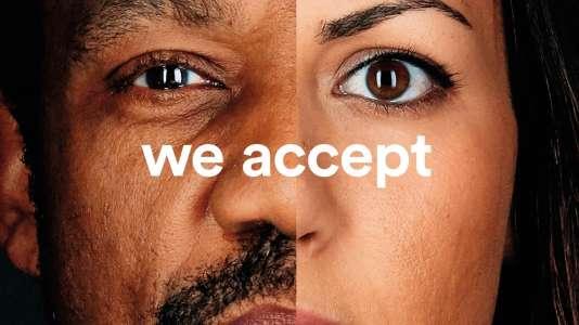 Des portraits diffusés par Airbnb sous le hashtag #WeAccept.