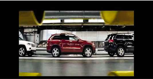 Une publicité Chrysler évoque la crise de 2008.
