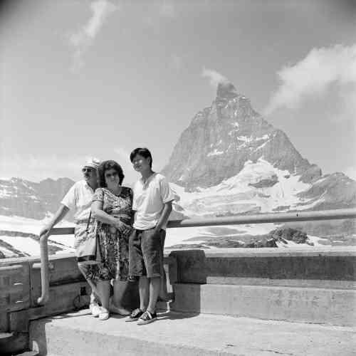 Matterhorn (Mont Cervin), 1992. Frontière italo-suisse.