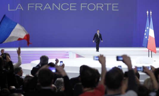 Meeting de Nicolas Sarkozy à Villepinte (Seine-Saint-Denis), le 11 mars 2012.