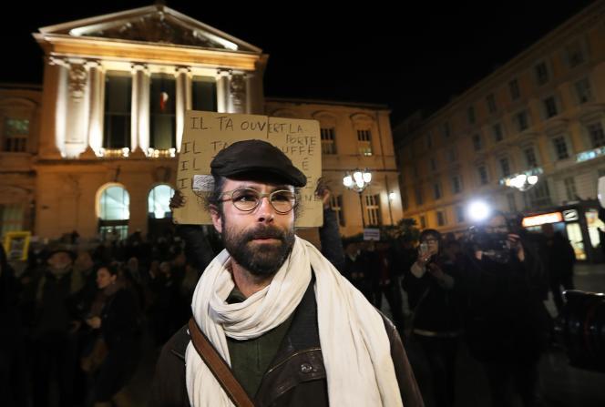 Le militant Cédric Herrou, le 4janvier, à Nice.