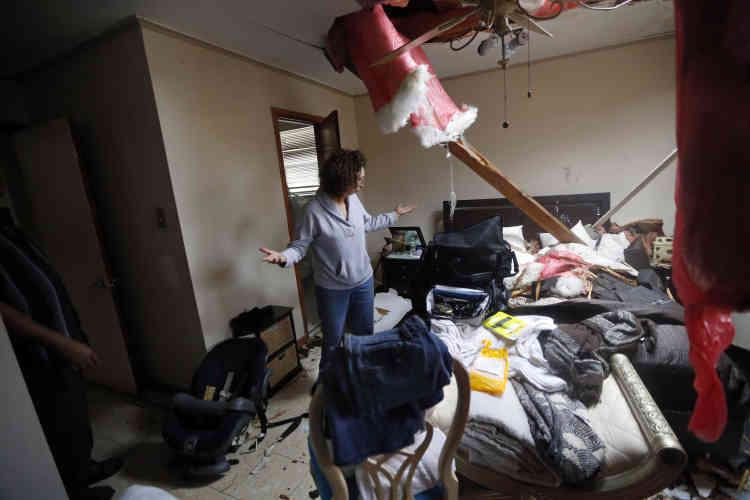 Artie Chaney dans ce qu'il reste desa maison, dans les quartiers est de La Nouvelle-Orléans.