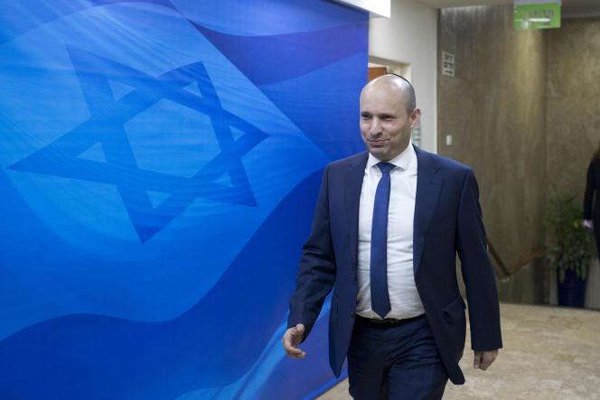 Naftali Bennett, le leader du parti de droite radicale Foyer juif, àJérusalem, le 8 janvier 2017.