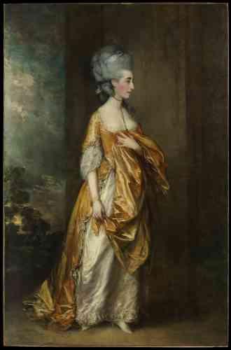 «Mrs. Grace DalrympleElliott», par Thomas Gainsborough, huile sur canevas, en 1778.