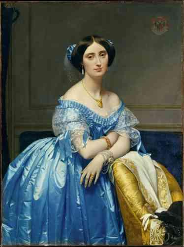 « La princesse de Broglie, Joséphine-Eléonore-Marie-Pauline de Galard de Brassac de Béarn », par Jean Auguste Dominique Ingres, huile sur toile,entre 1851 et 1853.