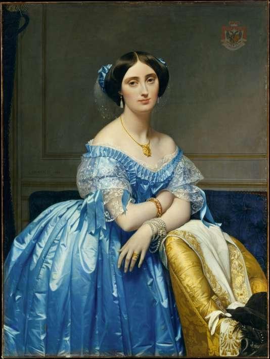Portrait de Joséphine-Eléonore-Marie-Pauline de Galard de Brassac de Béarn (1825–1860), princesse de Broglie, par Jean Auguste Dominique Ingres.