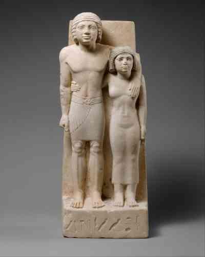 « The Royal Acquaintances Memi and Sabu », sculpture calcaire, entre 2575 et 2465 avant J.-C.