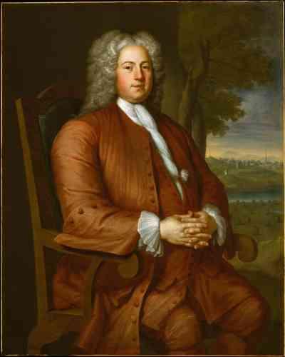 « Francis Brinley », par John Smibert, huile sur canevas, en 1729.