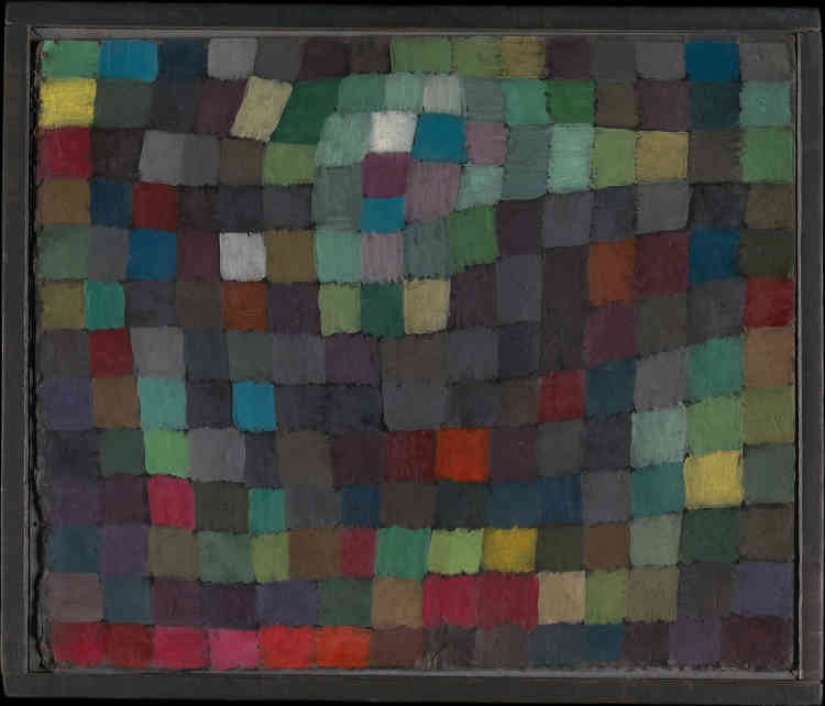 « May Picture », de Paul Klee, série « Magic Square », huile sur carton.