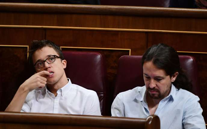 Iñigo Errejon (à gauche) avecPablo Iglesias, les deux leaders de Podemos.