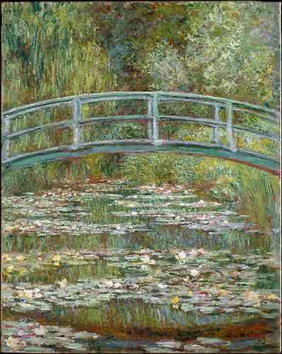 «Bridge over a Pond of Water Lilies» («Pont au-dessus d'un bassin de nénuphars»), de Claude Monet, huile sur toile, en 1899.