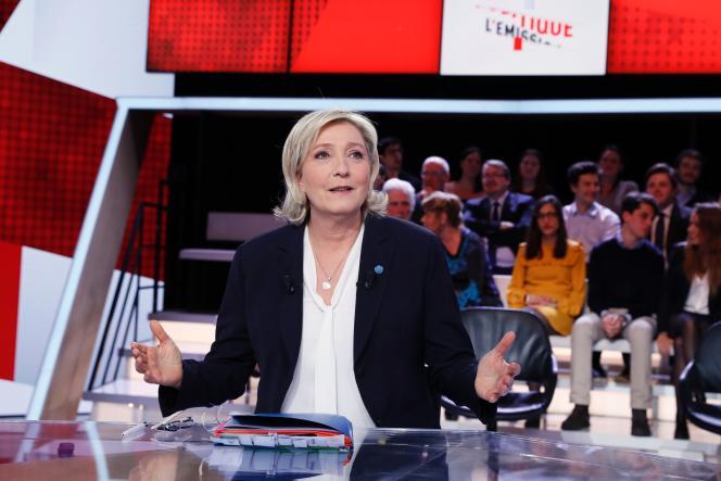 Marine Le Pen, le 9 février, sur le plateau de France 2.