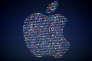 Logo d'Apple lors d'une conférence à San Francisco en juin 2016.