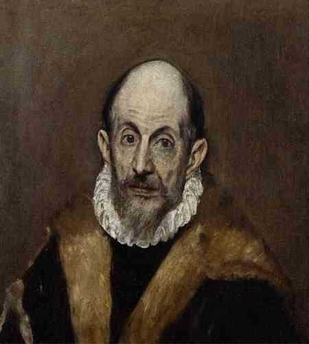«Portrait d'un vieil homme», par Le Greco, huile sur toile, vers 1595-1600.