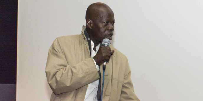 Le réalisateur burkinabé Pierre Yaméogo, lors de la projection exceptionnelle de «Bayiri», le 26 novembre 2016, à Paris.