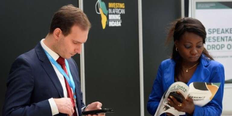 Des participants à la conférence Mining Indaba, au Cap, en Afrique du Sud, le 6 février 2017.