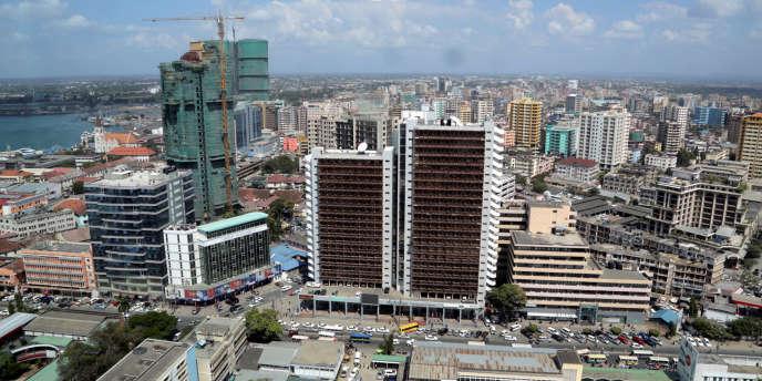 Le quartier central de Dar es-Salaam, en juillet 2013.