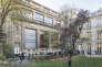 Dans le jardin de Sciences Po, à Paris.