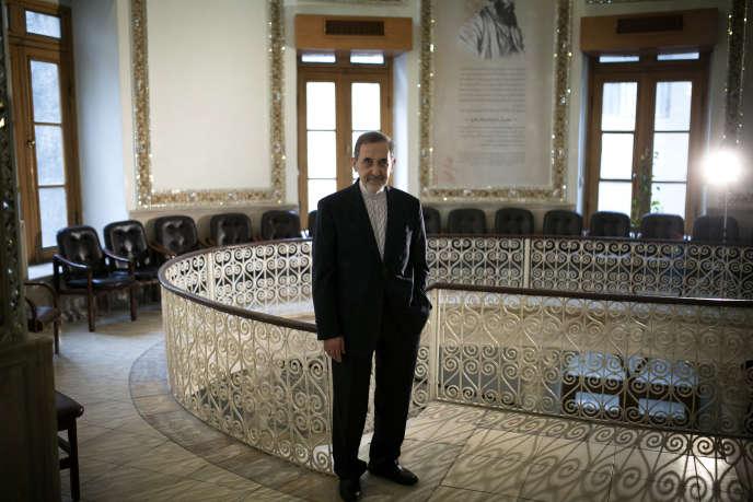 Ali Akbar Velayati, proche conseiller du Guide suprême, le 9 février, à Téhéran.