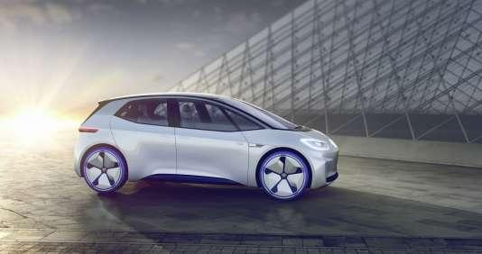 L'I.D. devrait devenirle premier modèle tout électrique de Volkswagen, en 2020.