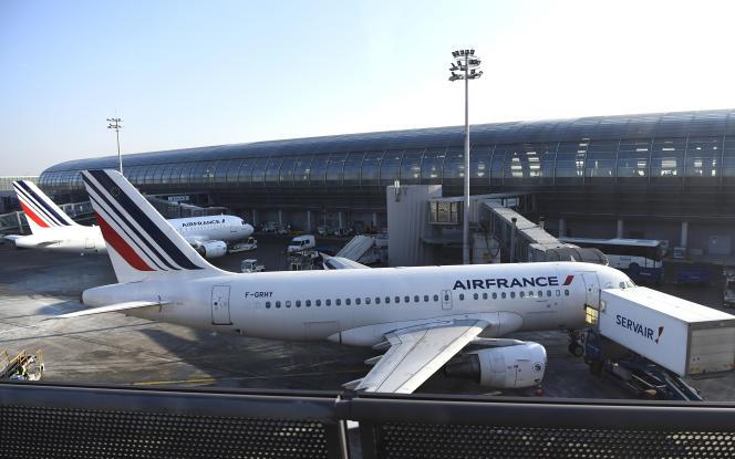 Un appareil Air France garé sur le tarmac de Roissy, 20 janvier 2017.