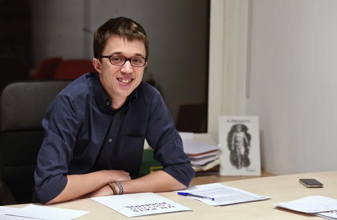 Iñigo Errejon, l'un des cadres du parti espagnol Podemos.