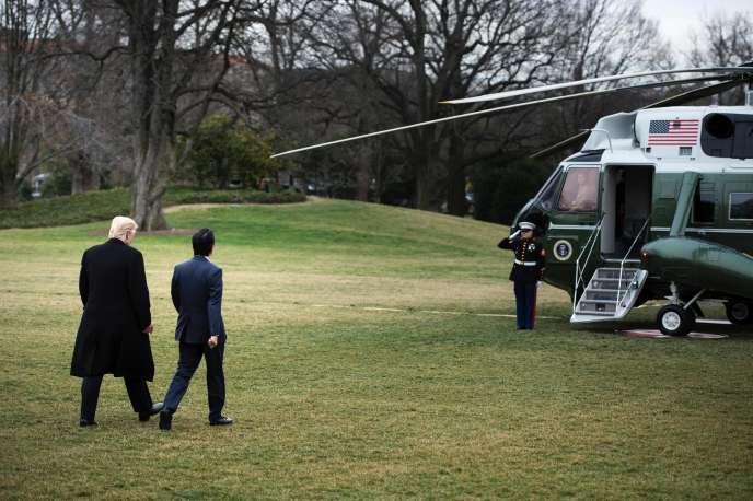 Donald Trump et Shinzo Abe, le 10 février à Washington.