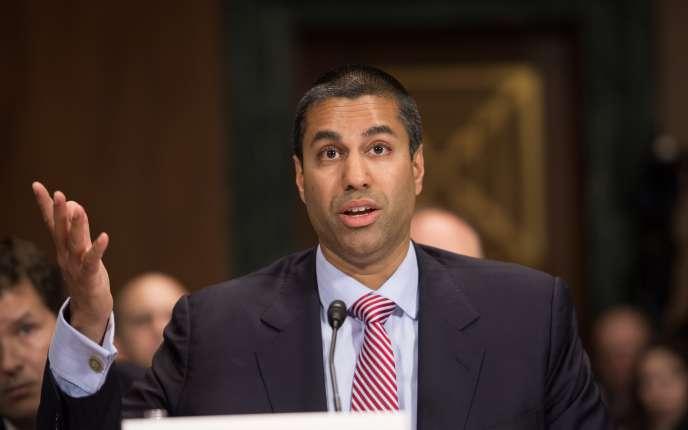 Le président de la Federal Communications Commission, Ajit Pai, en mai 2016 à Washington.