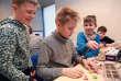 Leçon de robotique à l'école Pelgulinna de Tallinn (Estonie) le 7 février.