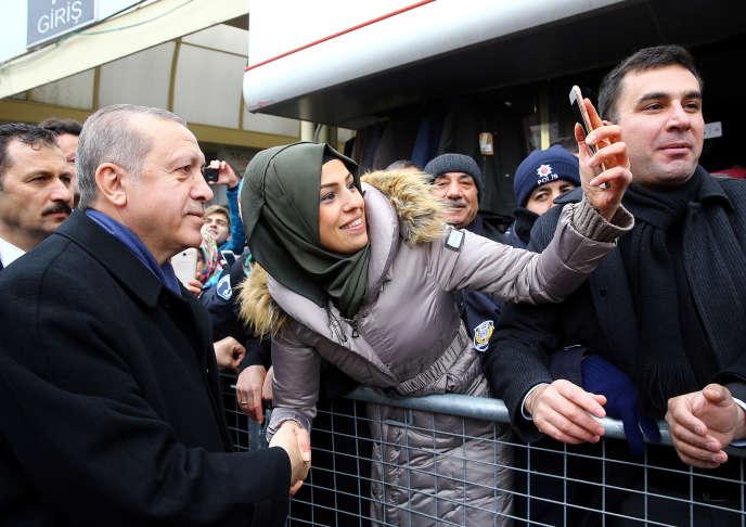 Le président Recep Tayyip Erdogan, à Aksaray (Turquie), le 10 février.