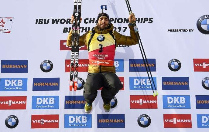 Martin Fourcade, le 12 février à Hochfilzen, en Autriche.