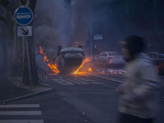 Incidents en marge du rassemblement à Bobigny, le 11février.