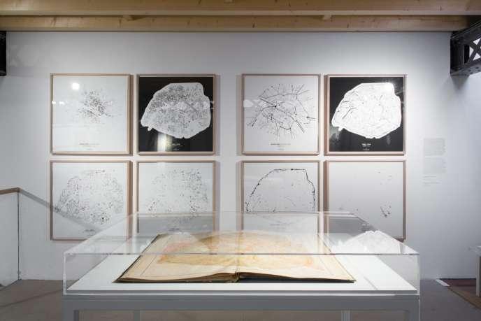 Vue de l'exposition« Paris Haussmann. Modèle de ville» au Pavillon de l'Arsenal à Paris, jusqu'au 7 mai 2017.
