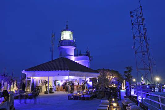 Lounge bar du phare des Mamelles, quartier de Ouakam.