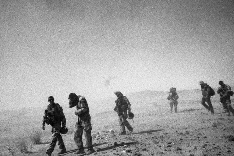 Les soldats de l'opération « Iroquois ».