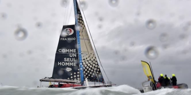 Eric Bellion a bouclé son Vendée Globe le 13 février aux Sables-d'Olonne.