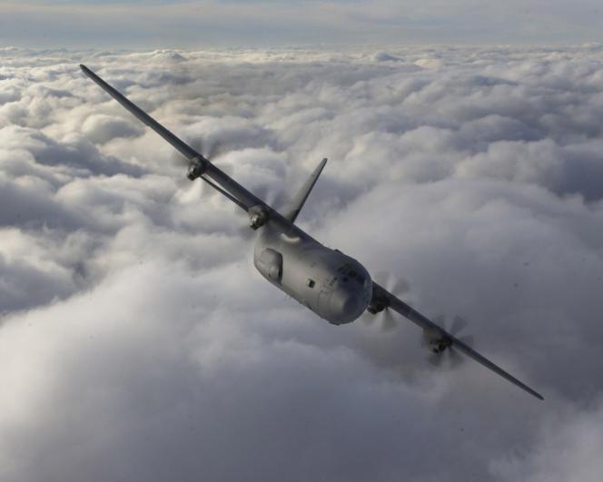 Un avion de transport militaire C130J Hercules.