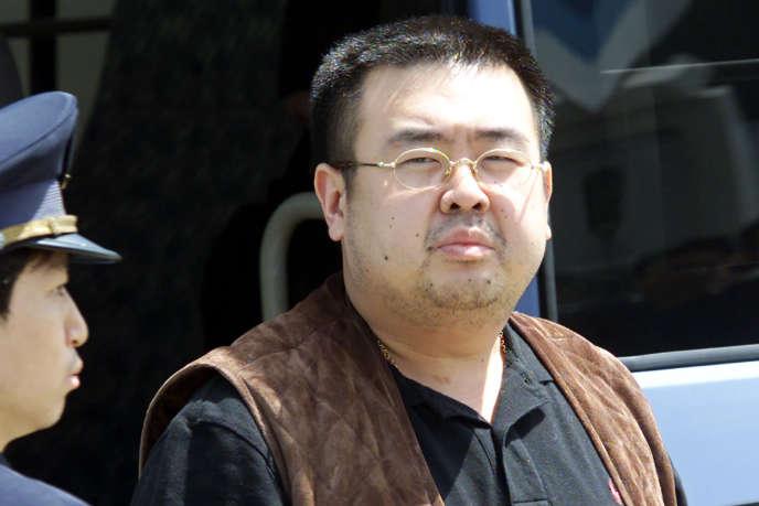 Kim Jong-nam à l'aéroport de Narita, près de Tokyo, le 4 mai 2001.