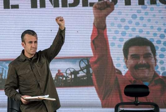 Le vice-président du Venezuela, Tareck El Aissami, le 31 janvier à Caracas.