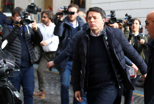 L'ancien premier ministre, Matteo Renzi à Rome, le 13 février.