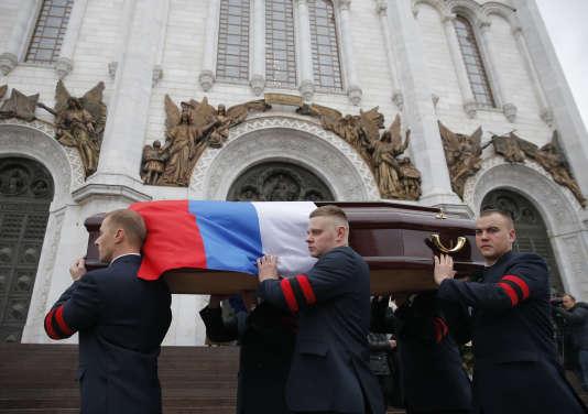 Les funérailles d'Andreï Karlovà la cathédrale du Christ-Sauveur de Moscou, le 22 décembre 2016.
