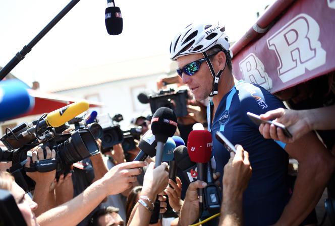 Lance Armstrong, le 16 juillet à Villefranche-d'Albigeois.