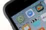 L'appplication WhatsApp téléchargée sur un iPhone.