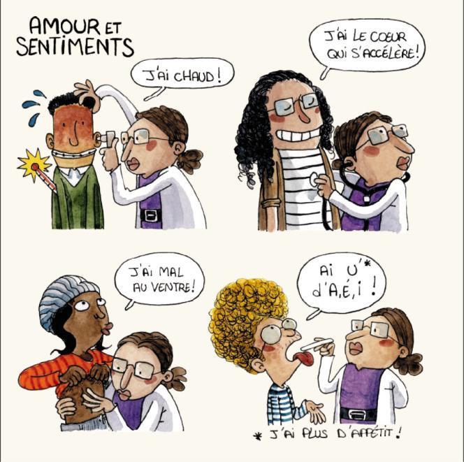 Des dessins du guide « La Sexualité et nous » distribué jusque-là par Le Centre régional d'information et de prévention du sida (Crips)