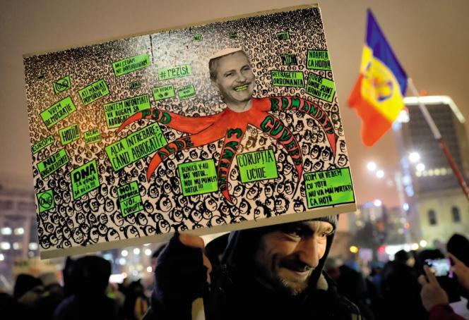 Manifestation le 11 février, à Bucarest.