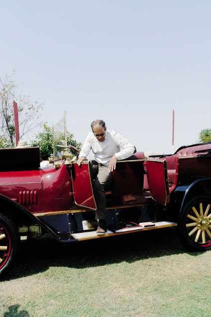 Rajesh Somasundaram et son 8/20 Runabout Benz de 1914.