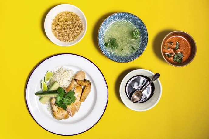 Un« chicken rice» dans les règles de l'art, comme à Singapour.