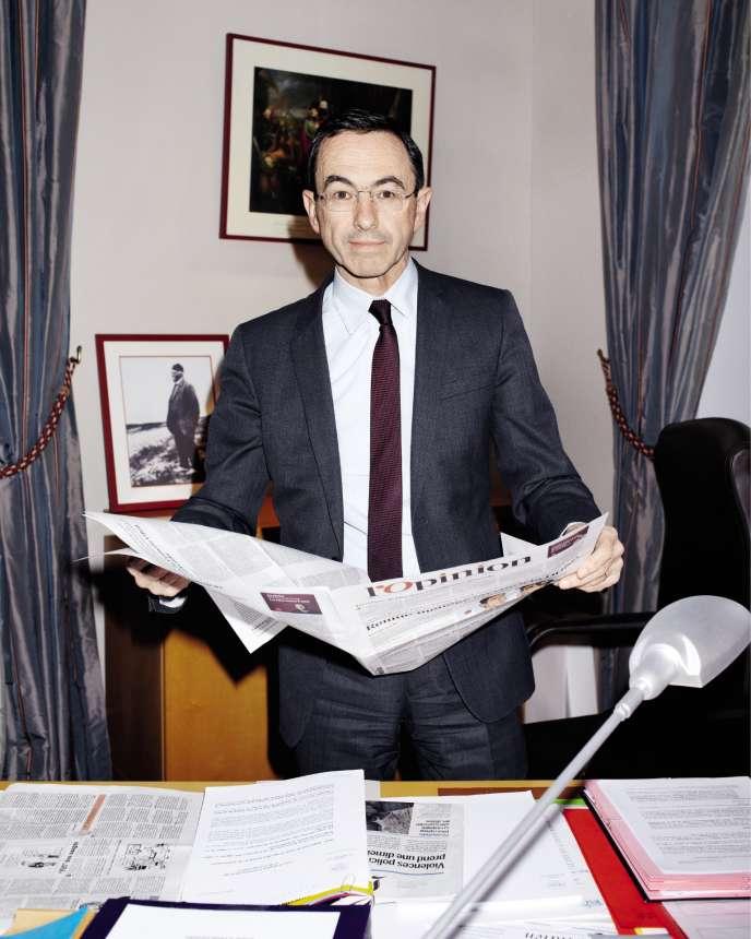 Bruno Retailleau, dans son bureau du Sénat,le 8 février.